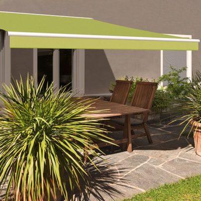 Terrassen-Markise in grün